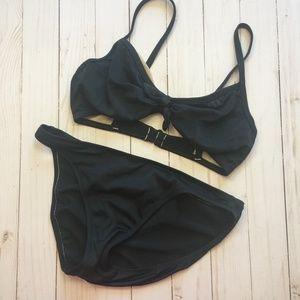 J. CREW Two-Piece Bikini 8 D-Cup Top M Bottoms EUC